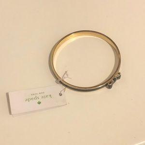 Kate Spade Navy and Gold Bow Bangle Bracelet